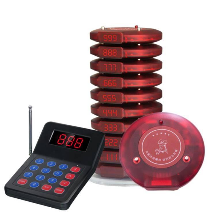 無線取餐器圓盤 麻辣燙取餐機等餐 美食城奶茶圓形飛盤咖啡廳甜品店取餐牌叫號器
