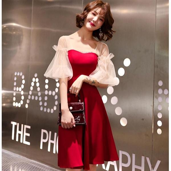 新娘敬酒服新款夏季紅色短款小個子氣質小晚禮服裙女平時可穿 中秋節全館免運