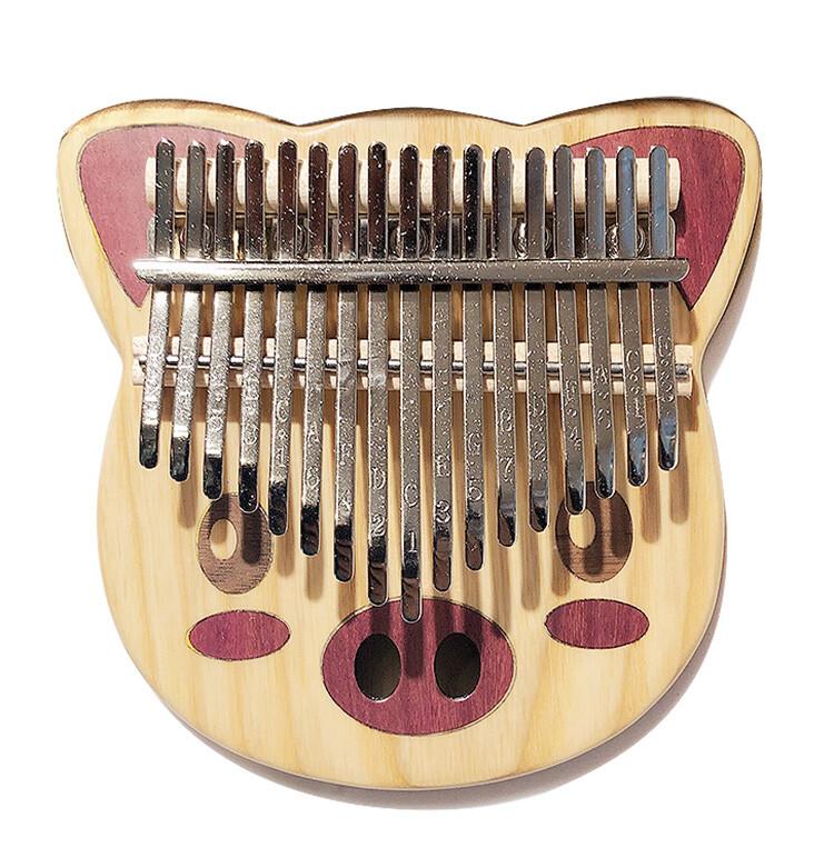 kalimba ka-17p嚴選17鍵豬造型卡林巴拇指琴-送琴包/限量