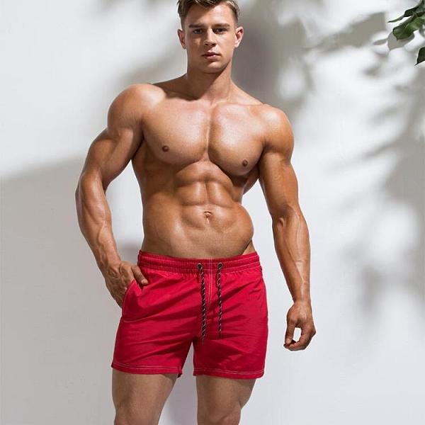 ×沙灘褲×青年純色運動休閒短褲 男士寬鬆大碼海邊五分沙灘褲潮【DY-B9207】