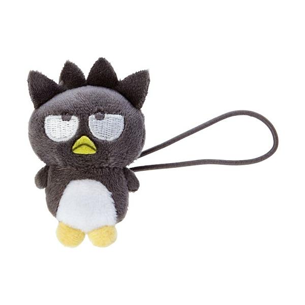 小禮堂 酷企鵝 造型絨毛彈力髮圈 玩偶髮束 絨毛髮圈 (黑白 全身) 4550337-97645