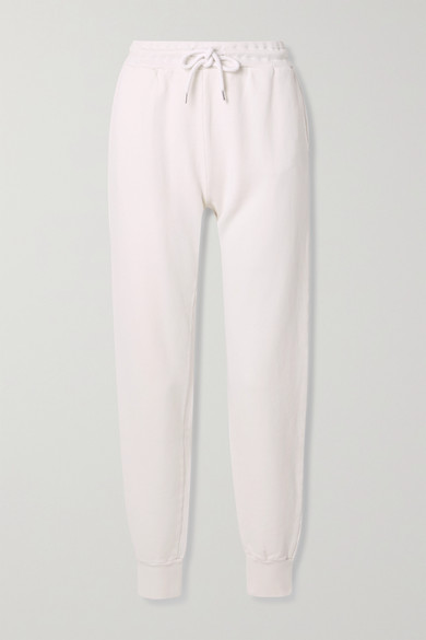 Anine Bing - Saylor 纯棉平纹布运动裤 - 象牙色 - x small