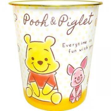迪士尼 小熊維尼 圓形無蓋垃圾桶《白黃.Q版坐姿》書報桶.收納桶.置物桶