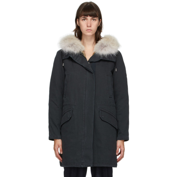Yves Salomon - Army 黑色羽绒大衣