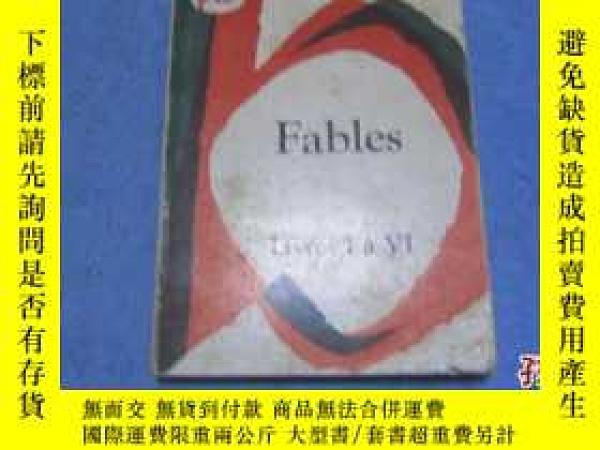 二手書博民逛書店【罕見】La Fontaine:Fables tome prem