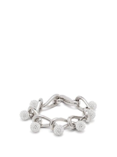Loewe - Drop Crystal-embellished Chain Bracelet - Womens - Crystal