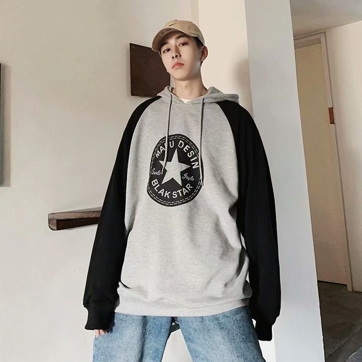 韓版新款刷毛款2020新款男外套學生港風寬鬆潮牌連帽套頭衫上衣帽衫 大學T(LR002)【壹號站】
