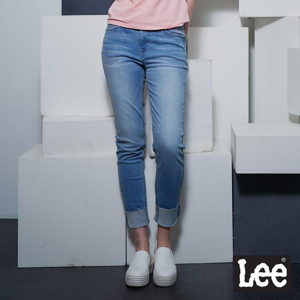 Lee 433 中腰合身窄腳牛仔褲 女 淺藍 Mainline
