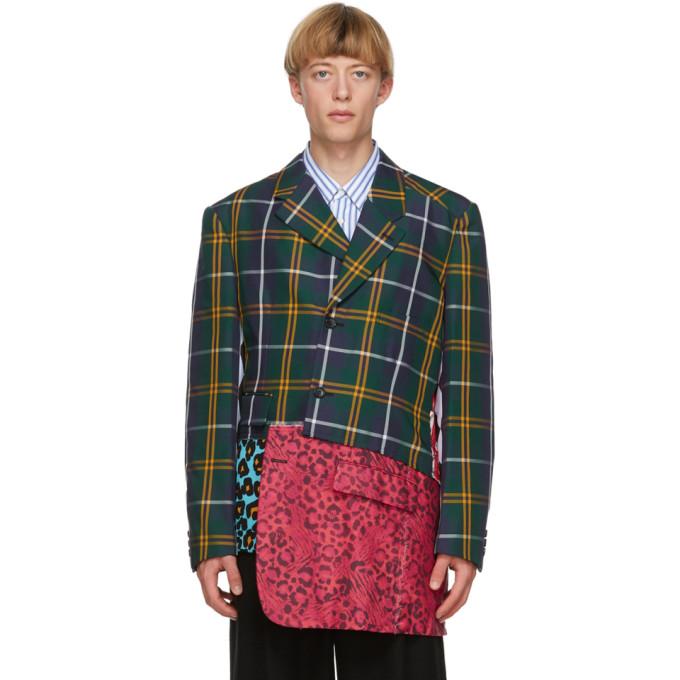Comme des Garcons Homme Plus 多色 Asymmetrical 苏格兰格纹西装外套