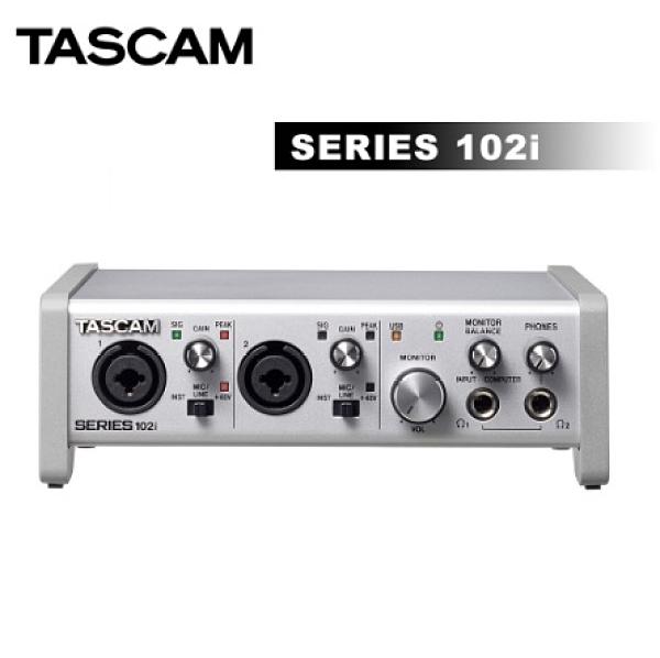 【聖影數位】TASCAM 達斯冠 SERIES 102I 錄音介面10 IN/2 OUT USB Audio / MIDI 正成公司貨
