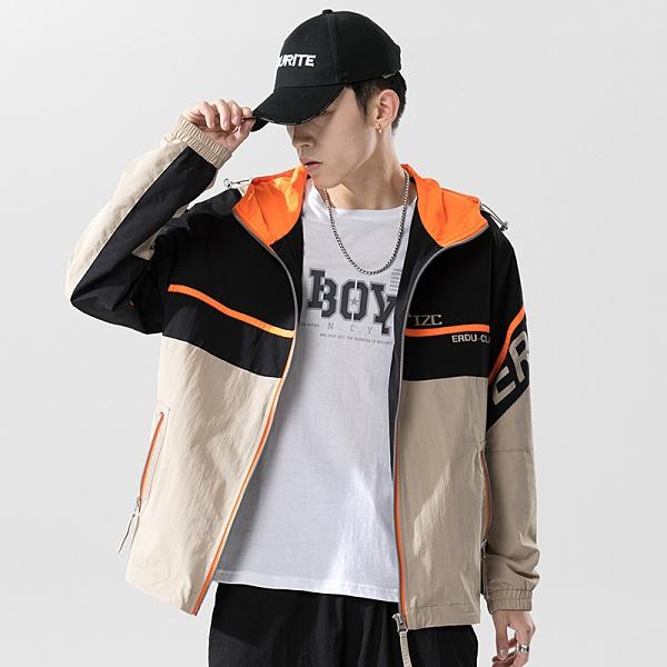 男外套運動休閒型男韓版外套 嘻哈男生外套 街頭夾克外套秋季 韓版男士外套 潮牌外衣潮流外套