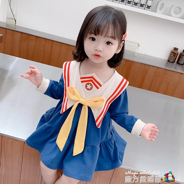 女童秋裝新款洋裝1女孩洋氣兒童春秋長袖公主裙3歲小童寶寶裙子 聖誕節全館免運