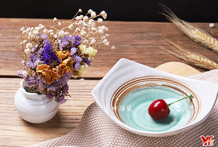 【堯峰陶瓷】日式餐具 綠如意系列 5.5吋|8吋 船型小菜碗(單入)小菜碗|湯品碗|冰品碗|水果 麥片碗|醬料碗|套組餐具系列