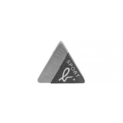 agnes b. - Sport b. logo三角造型貼耳式耳環(中性/黑)(單耳)