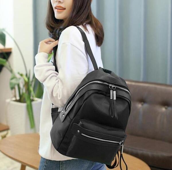 後背包女士牛津布黑色女包雙肩包尼龍2020新款潮韓版百搭時尚休閒 向日葵