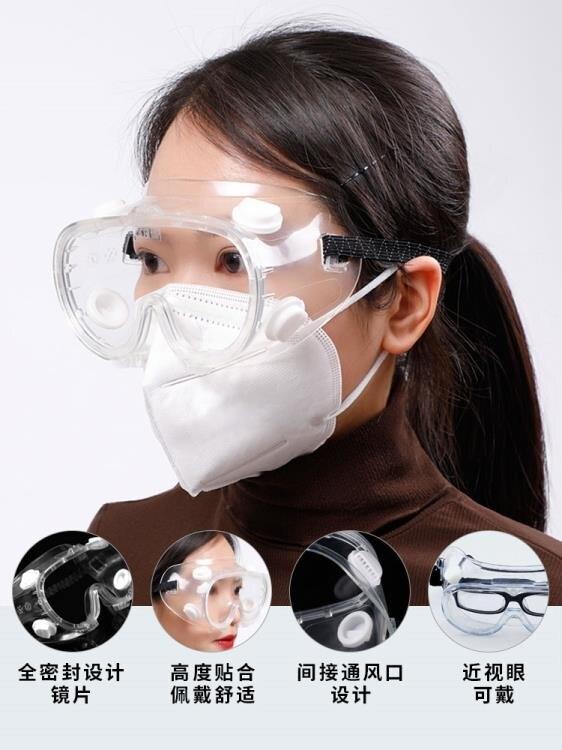 護目鏡全封閉防護眼鏡護目眼鏡眼可戴眼鏡專業防風塵防霧透氣