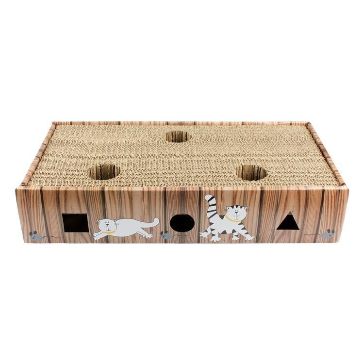 味它寵物 洞洞瓦楞紙貓抓板鈴鐺貓玩具貓咪磨爪硬紙板多省 兒童節新品