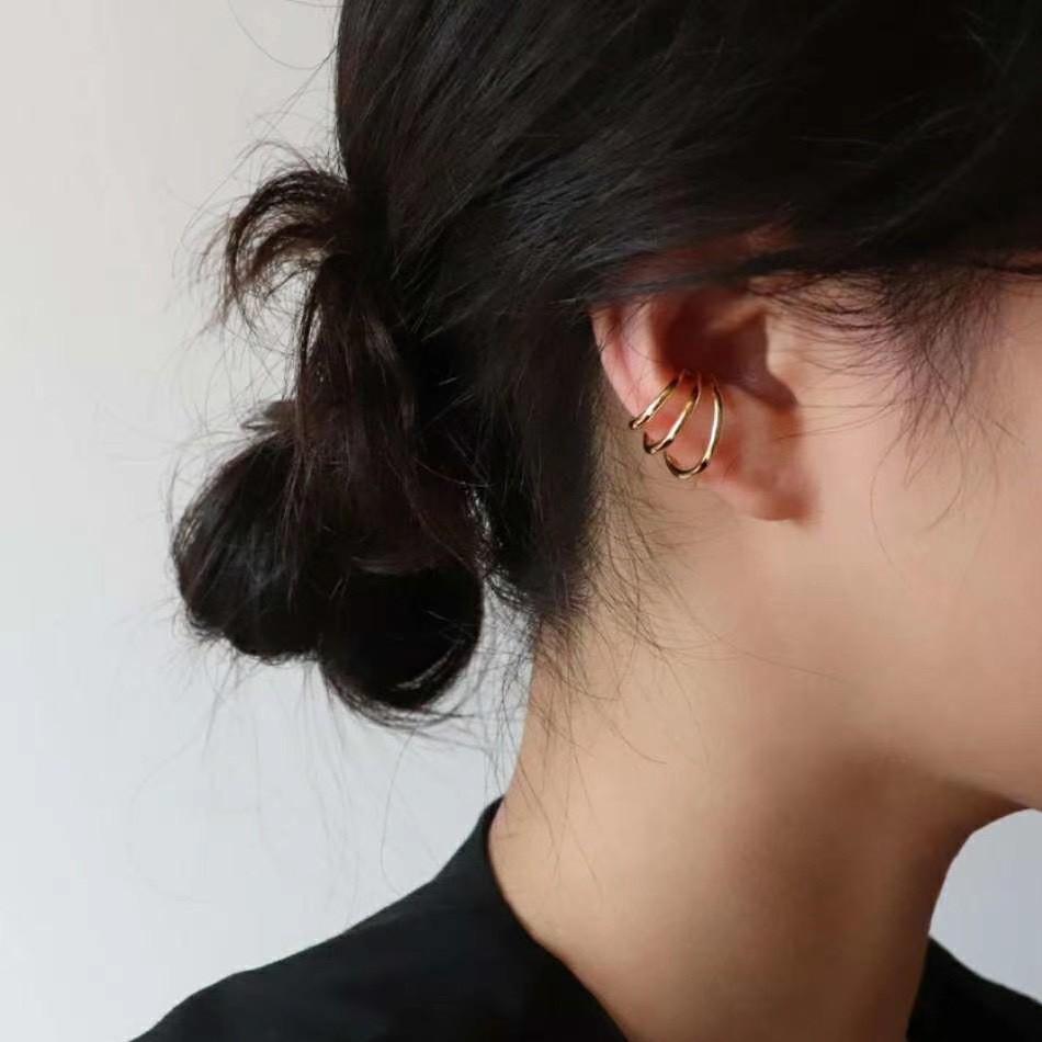 層次小圈 三圈扣耳骨夾 Simple Modern [正韓] 韓國連線 【NN306】