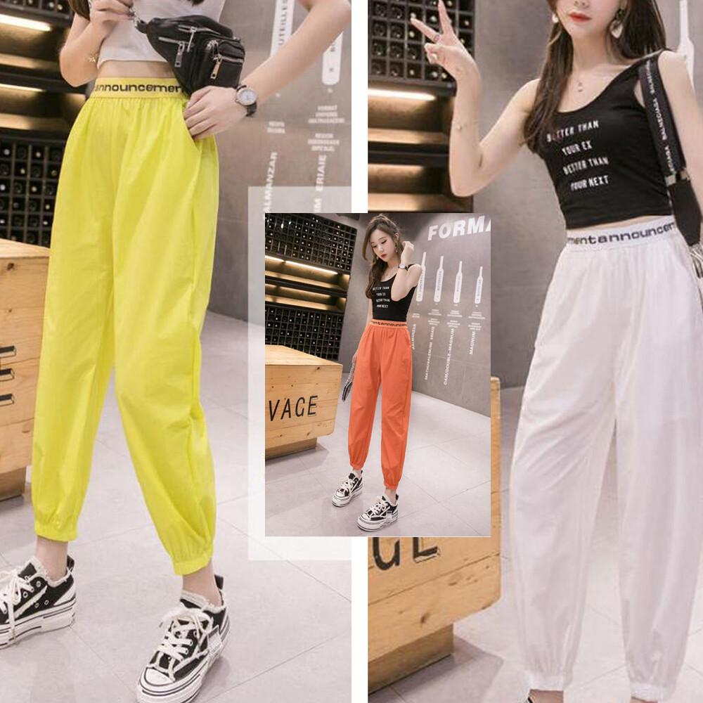 韓版寬鬆顯瘦薄款九分哈倫褲
