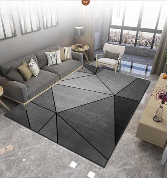 地毯 臥室客廳簡約沙發茶幾毯滿鋪房間家用大面積地毯墊 阿宅便利店