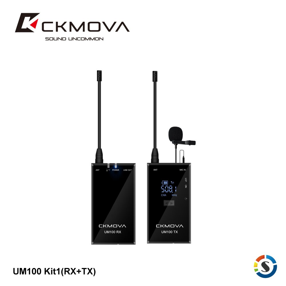 CKMOVA UM100 Kit1(RX+TX) 一對一無線麥克風套組