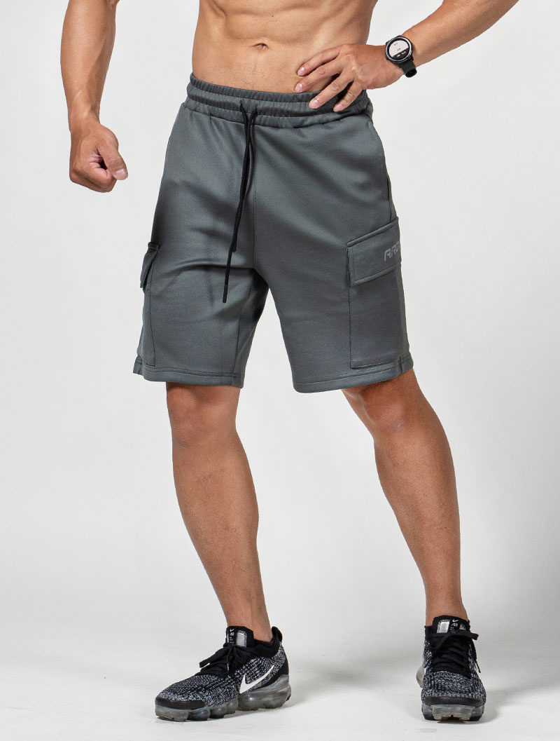 *夢多推薦*[台灣 AROO] 磁扣工作口袋訓練短褲 (灰)