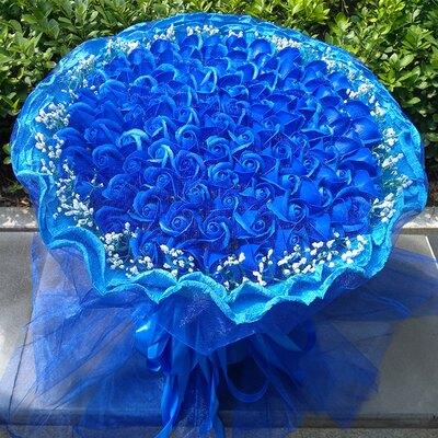花束 99朵玫瑰禮品香皂花束禮物女友生日禮品送女朋友畢業禮物 DF
