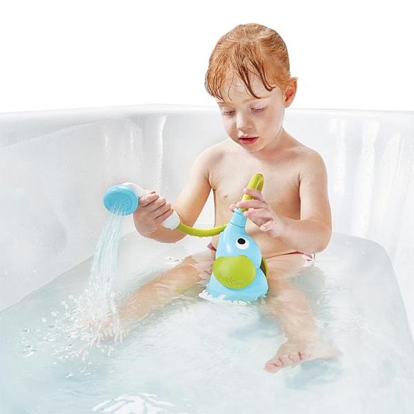 寶寶花灑兒童洗澡玩具嬰兒電動大象花灑戲水噴頭【雲木雜貨】