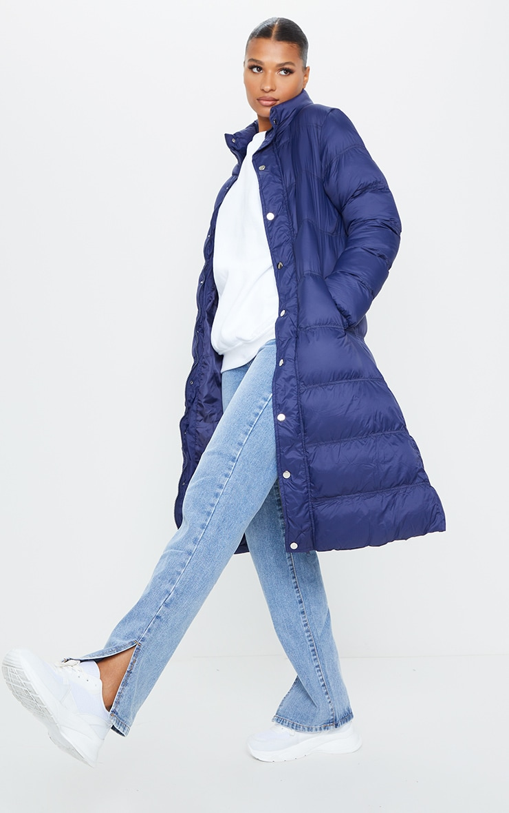 Navy Maxi Fitted Puffer