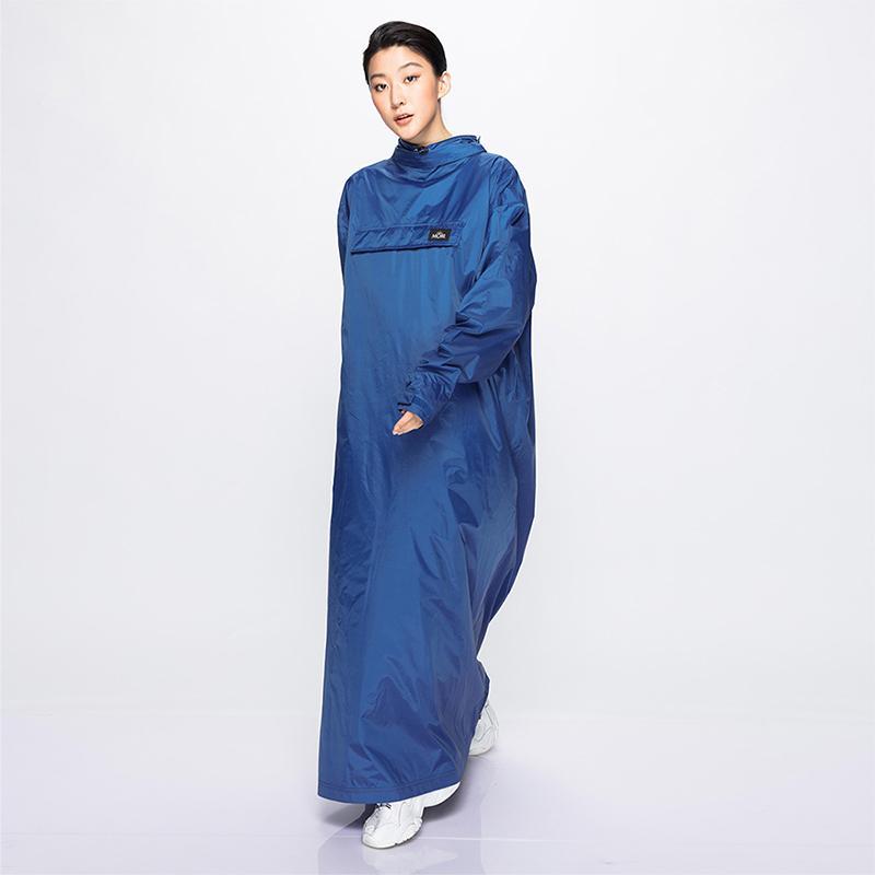 PostPosi反穿雨衣_PVC版本-青瓷藍(送黑購物袋) M