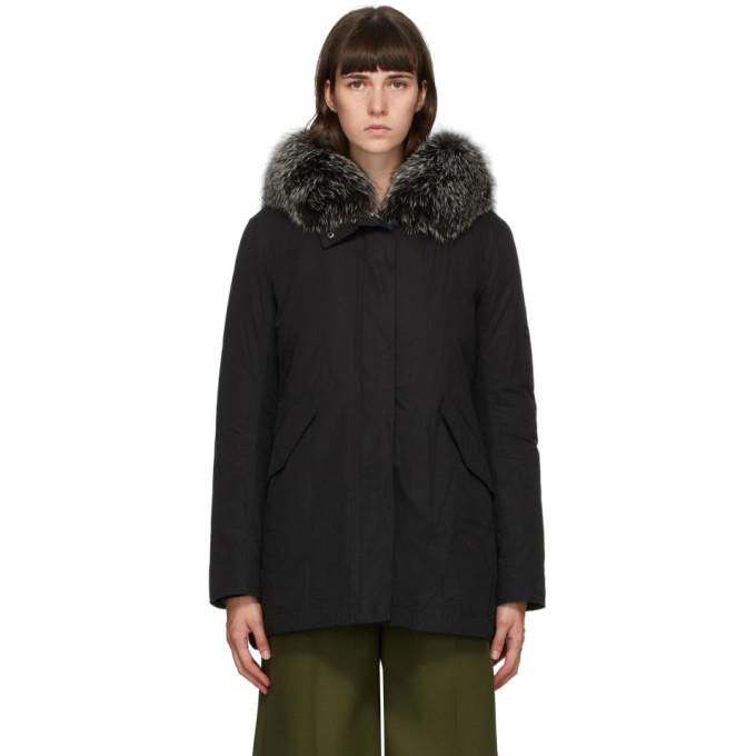 Yves Salomon - Army 黑色羽绒夹克
