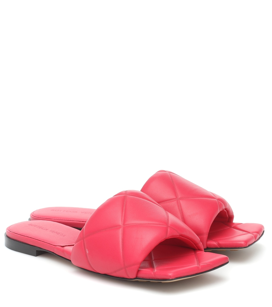 BV Rubber Lido leather sandals