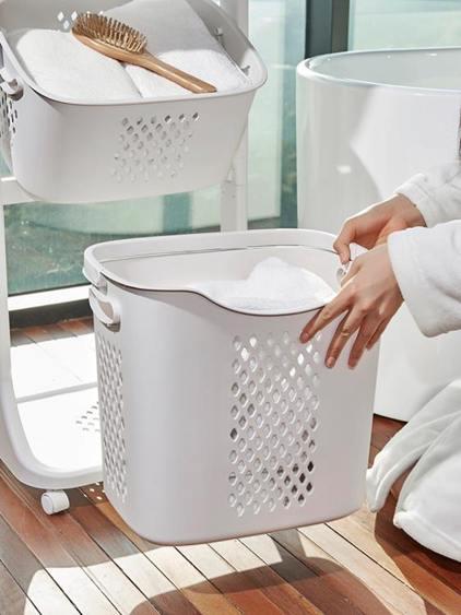 特大號多層衣服收納籃臥室髒衣婁家用簡約髒衣籃浴室塑料收納筐簍