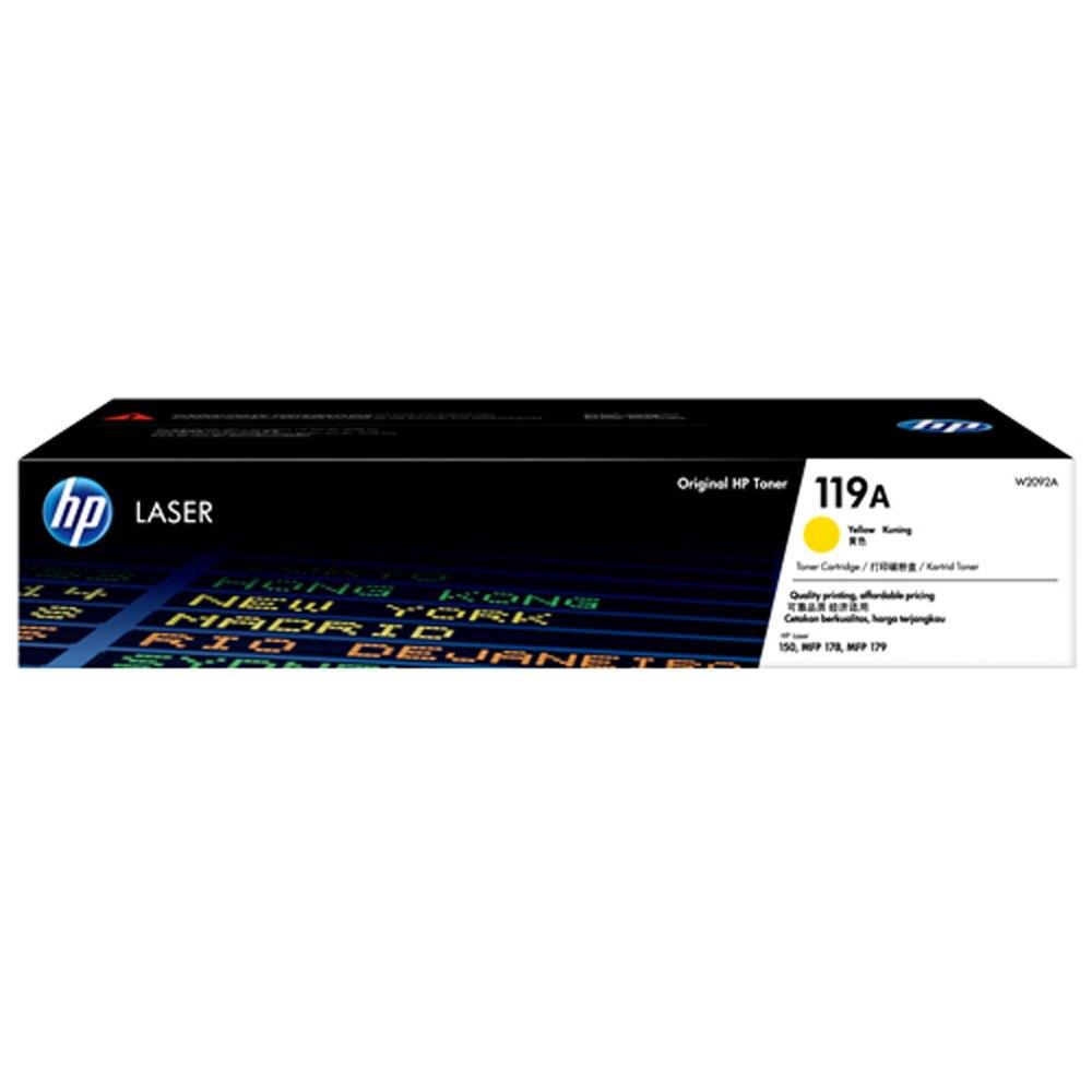 HP 黃色原廠碳粉匣 / 個 W2092A 119A