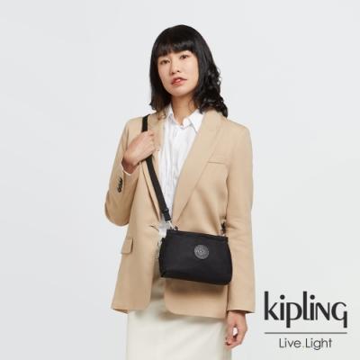 Kipling 低調沉穩黑平口收納小包-ALZINA