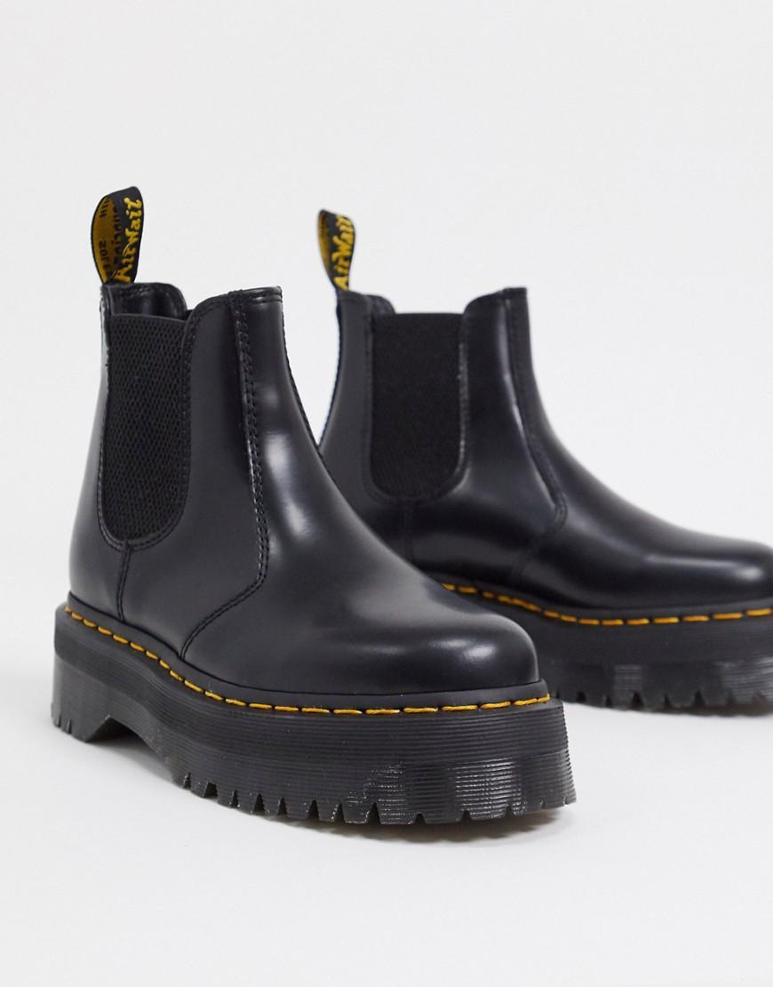 Dr Martens 2976 flatform chelsea boots in black