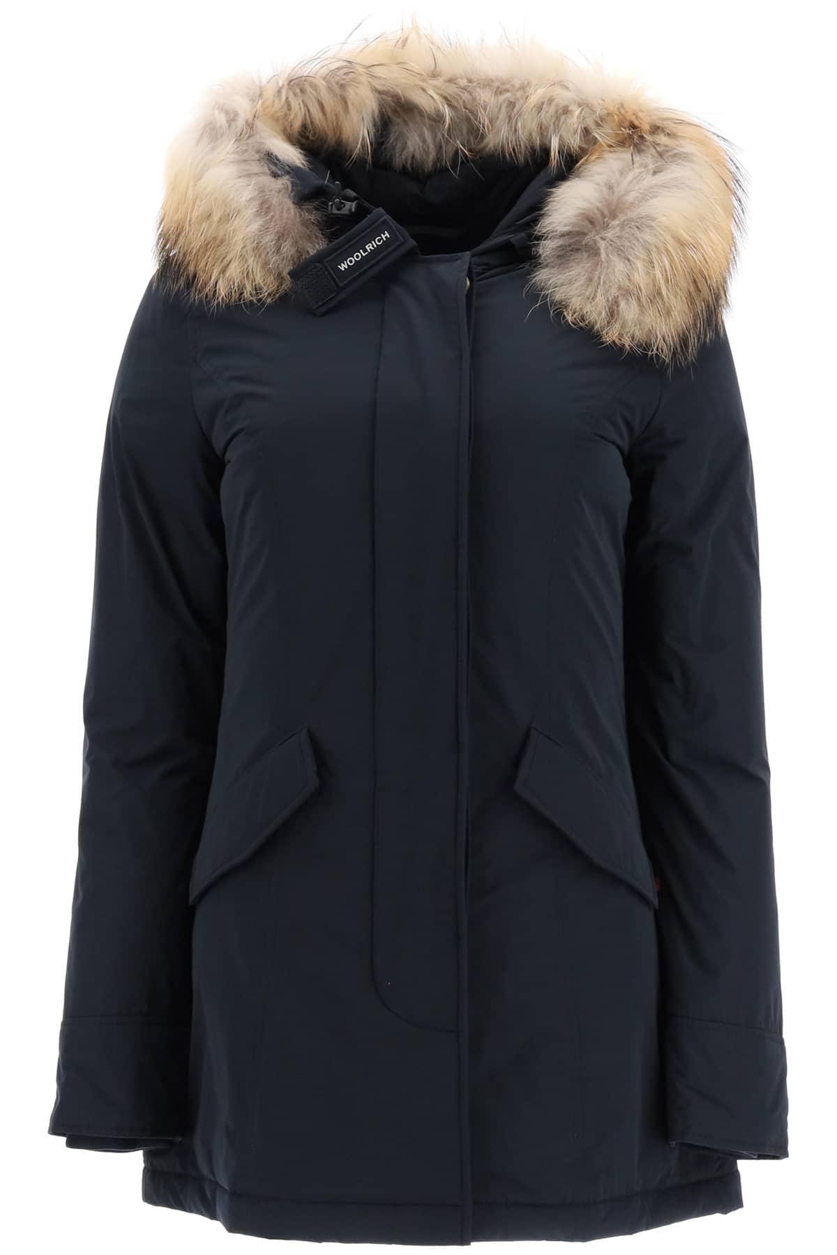 WOOLRICH LUXURY ARCTIC PARKA WITH MURMASKY FUR M Blue Technical, Fur