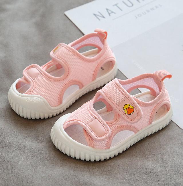 【NikoKids】軟底小童鞋/學步鞋/涼鞋/造型涼鞋/粉色( NK199)