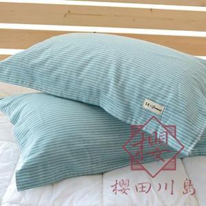 一對裝 日式枕巾純棉紗布加厚加大柔軟情侶親膚枕頭巾