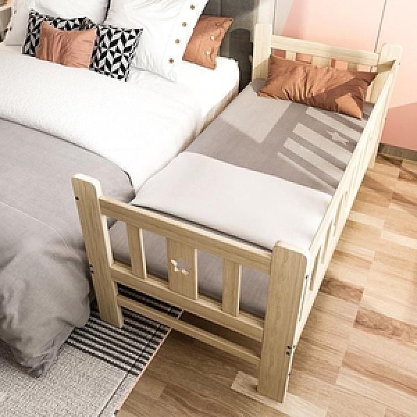 【預購-預計4/1出貨】【Effect】兒童床邊拼接護欄實木床(160X80X40cm)
