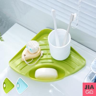 JIAGO 廚房衛浴水槽三角瀝水置物架