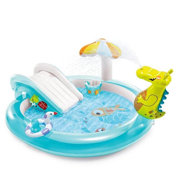 INTEX嬰兒童充氣游泳池家庭大號海洋球池沙池家用寶寶噴水戲水池-米蘭街頭