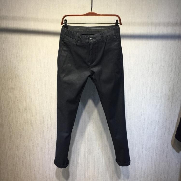 窄管褲 微瑕處理~時尚男式超值特惠 深灰黑 微彈舒適 窄腿修身休閒褲A222