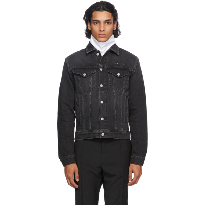 1017 ALYX 9SM 黑色 Denim Collection Stitching 牛仔夹克