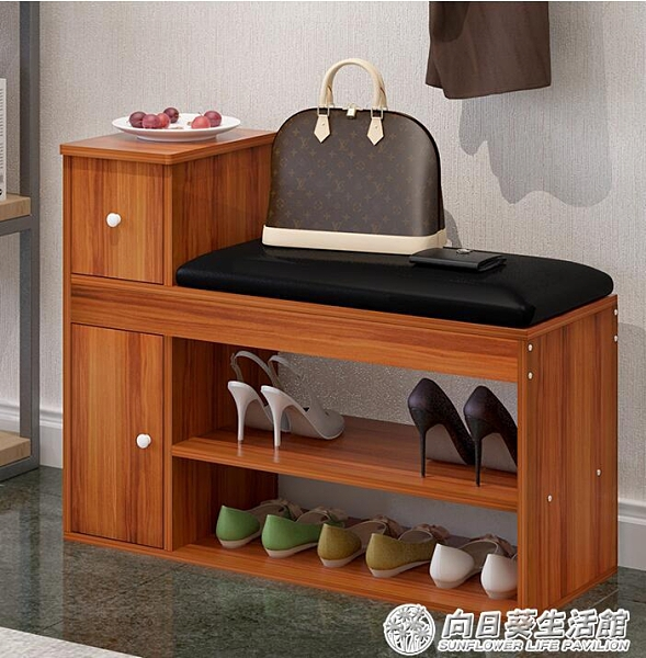 進門口換鞋凳鞋櫃式儲物凳多功能鞋架沙發凳經濟型簡約穿鞋凳『向日葵生活館』