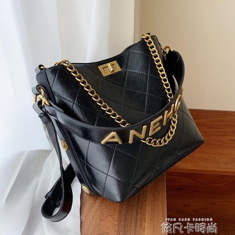 高級感包包洋氣女包2020新款潮韓版百搭質感斜挎包時尚單肩水桶包 樂樂百貨