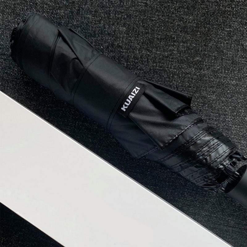 KUAIZI最強雙玻纖傘骨自動筷子傘 螢光綠X黑