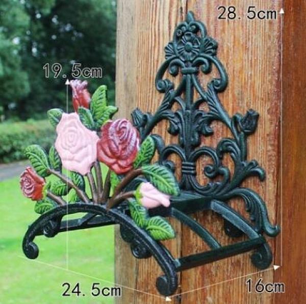 復古鑄鐵掛墻壁澆花軟管收納架