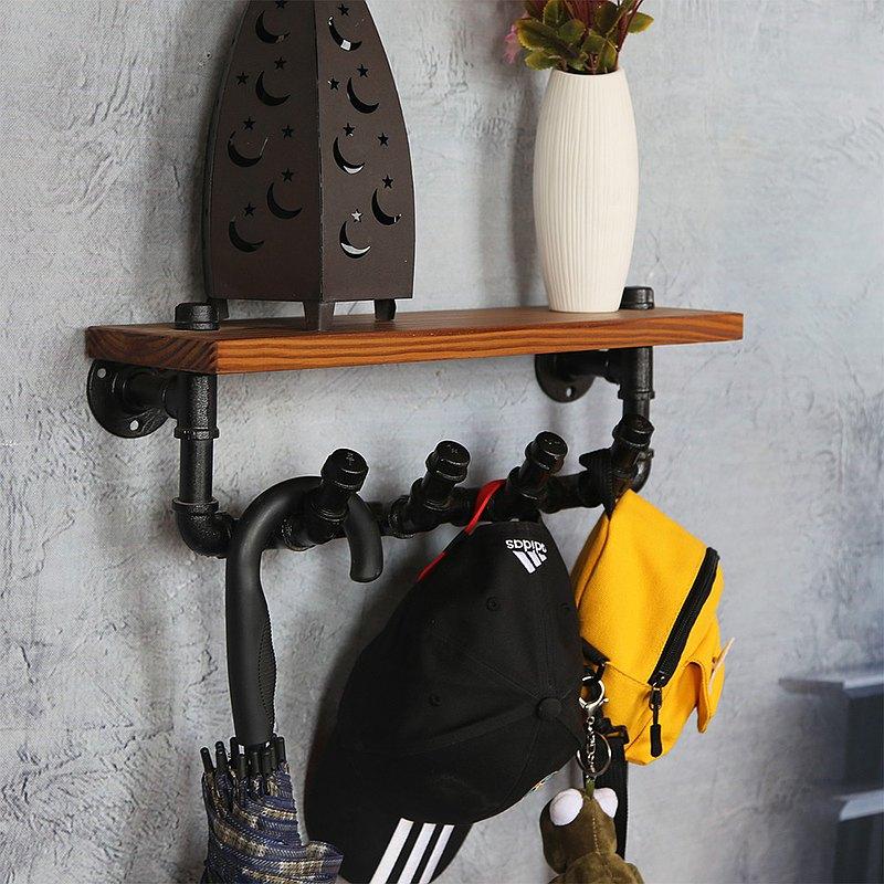新品水管工業風玄關置物架衣帽鉤收納裝飾架
