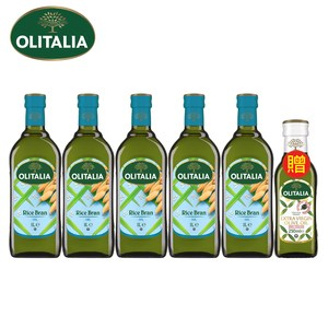 奧利塔玄米油1Lx5(贈特級初榨橄欖油250mlx1)